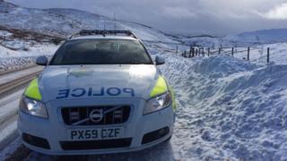 A police car in Cumbria