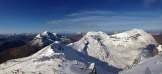 Applecross hills, Liathach, Beinn Alligin behind and the ridge of Beinn Eighe