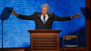 Clint Eastwood en la Convención republicana de 2012.