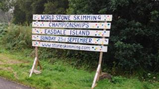 The World Stone Skimming Championships in Easdale