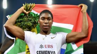 Caster Semenya yegukanye inshuro ebyiri umudari wa Olympike ndetse n'inshuro eshatu mu masiganwa yo ku rwego rw'isi mu gusiganwa muri metero 800