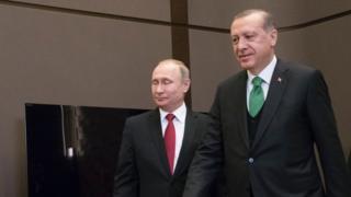 Erdoğan Putin ile görüşüyor