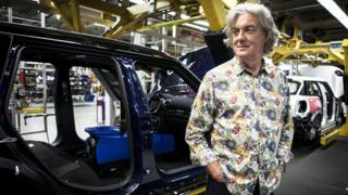 James May on the Mini production line
