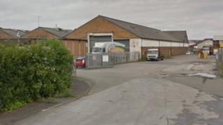 Allied Bakeries depot in Saltney, Flintshire