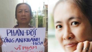 """Bà Nguyễn Tuyết Lan (trái) nói lần gần đây nhất gặp, blogger Mẹ Nấm """"rất gầy yếu, xanh xao"""""""