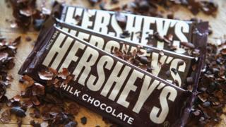 Hershey's chocolate bars photo illustration