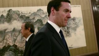 George Osborne in Shanghai, China