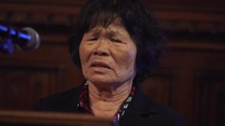 Bà Trần Thị Ngải nói về việc bị hãm hiếp tại quê nhà ở Phú Yên trong Cuộc chiến Việt Nam.