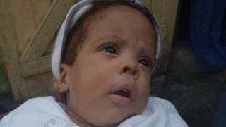 Five-month old Angel has been reunited with her mother