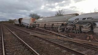 Freight train derailment in Somerset (20/03/17)