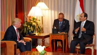 الرئيس المصري عبد الفتاح السيسي ونظيره الأمريكي دونالد ترامب