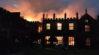 Fire at Parnham House