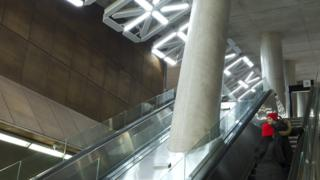 An image of the artwork in the Toronto subway station