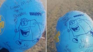Lucas Muir's balloon