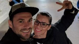 أندريا كريستيا وصديقها أندريه بورناز