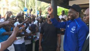 Mchezaji yannick Bolassie wa Congo