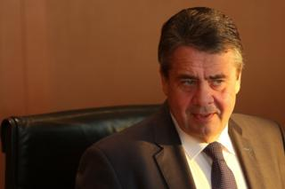 German Foreign Minister Sigmar Gabriel in Berlin, 13 December 2017