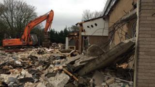 Demolition of the Sherborne Hotel