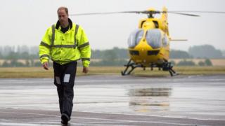Prince William at Cambridge Airport