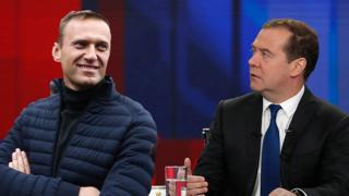 Навальный и Медведев