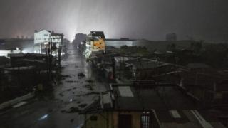 필리핀 북동부 지역에 폭우가 내리고 있다