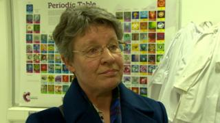 Professor Jocelyn Bell Burnell was speaking at an event in Belfast Metropolitan College