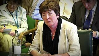 Sue Gray giving evidence at a house of commons committee