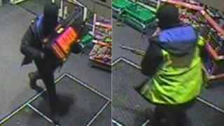 CCTV of armed robber
