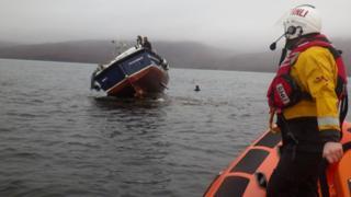 Dive boat rescue