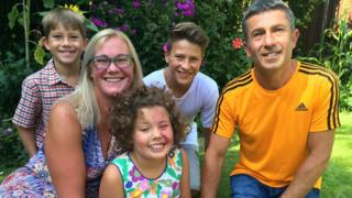Nicola Colenso and her family