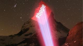 Message of hope on Matterhorn