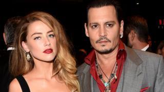 Actress Amber Heard and husband Johnny Depp