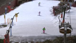 Miniature ski resort