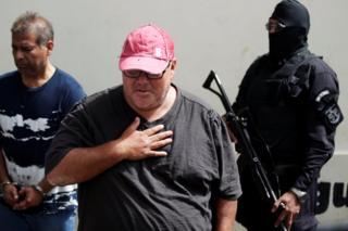 """Alejandro Maximiliano González Jiménez, el """"Gordo Max"""", presentado como acusado en la Dirección Central de Investigaciones."""