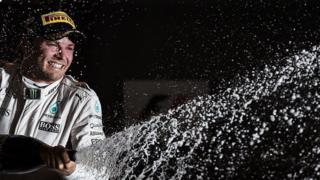 Nico Rosberg celebrates