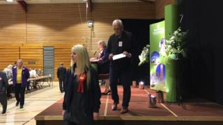 Nick Rushton at the North West Leicestershire District Council count