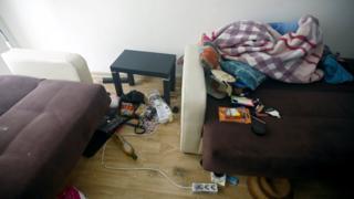 Abdülgadir Masharipov'un yakalandığı evin odalarından biri