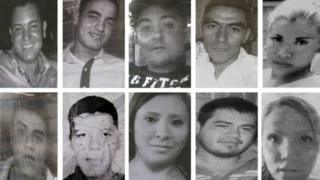 Photos of 10 of the 13 victims who went missing after visiting in a bar in Mexico City in May 2013