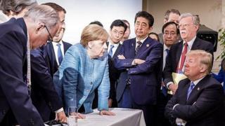 Donald Trump and G7 officials