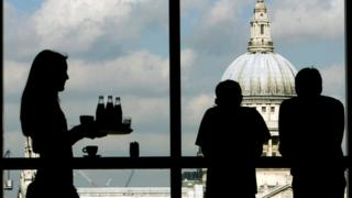 Cafe looking at St Paul's Cathedral