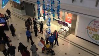 Police at the Intu shopping centre in Bromley after incident on 26 December 2015
