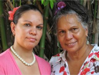 Picture of Aboriginal author Melanie Prewett and her mother Maggie.