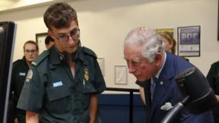 Prince Charles at London Ambulance Service