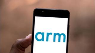 Arm logo on a mobile