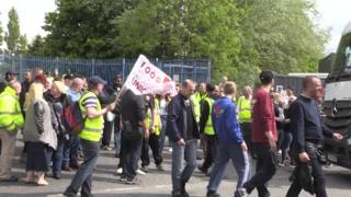 Strikers at Pennine Foods