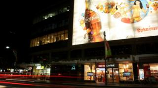 The famous Coca-Cola sign at Kings Cross in Sydney