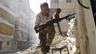 Một binh sỹ ở Syria