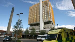 Northern Ireland Belfast City Hospital tower block