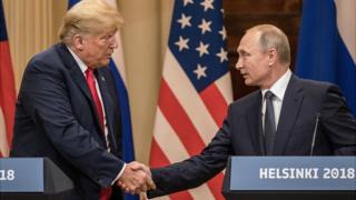 Tổng thống Donald Trump và Tổng thống Nga Putin gặp nhau hôm 16/6