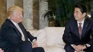 Donald Trump y Shinzo Abe